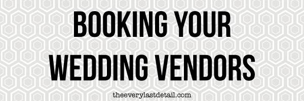 {Thursday Tips} Booking Your Wedding Vendors via TheELD.com
