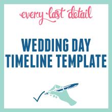 Creating Your Wedding Day Timeline via TheELD.com