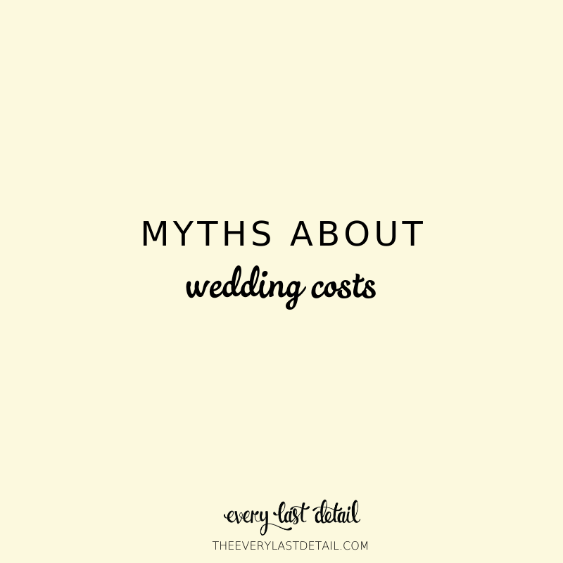 Myths About Wedding Costs via TheELD.com