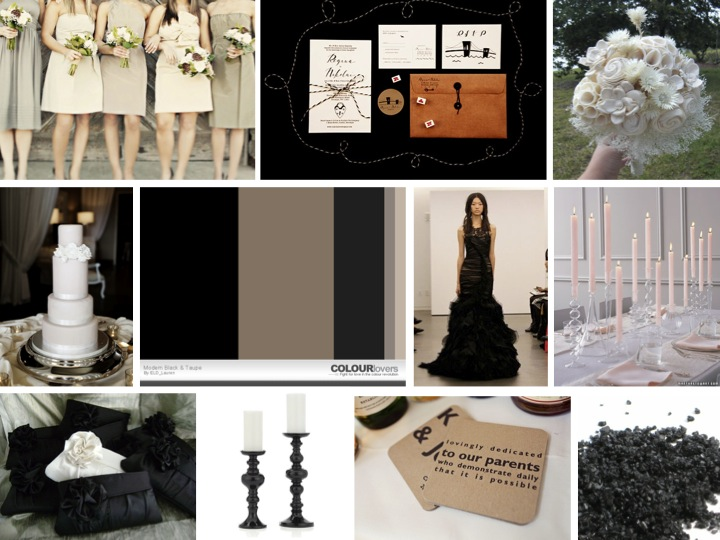 Inspiration Board: Modern Chic Black and Taupe via TheELD.com
