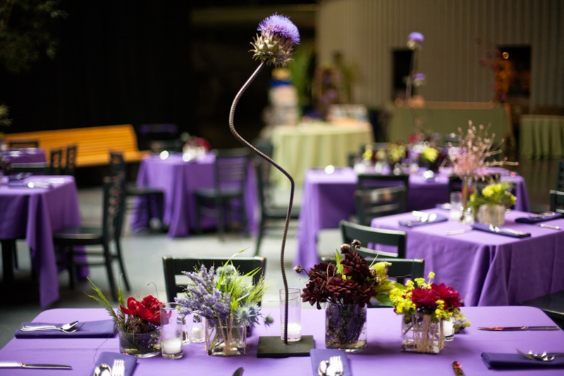 Modern & Offbeat Purple San Francisco Wedding via TheELD.com