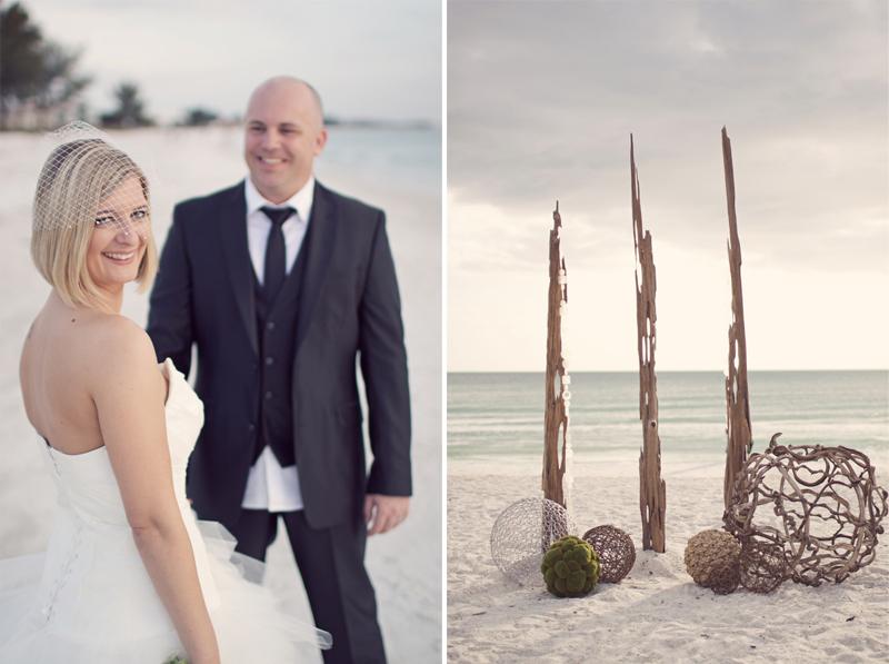Modern Pink & Green Florida Destination Wedding via TheELD.com