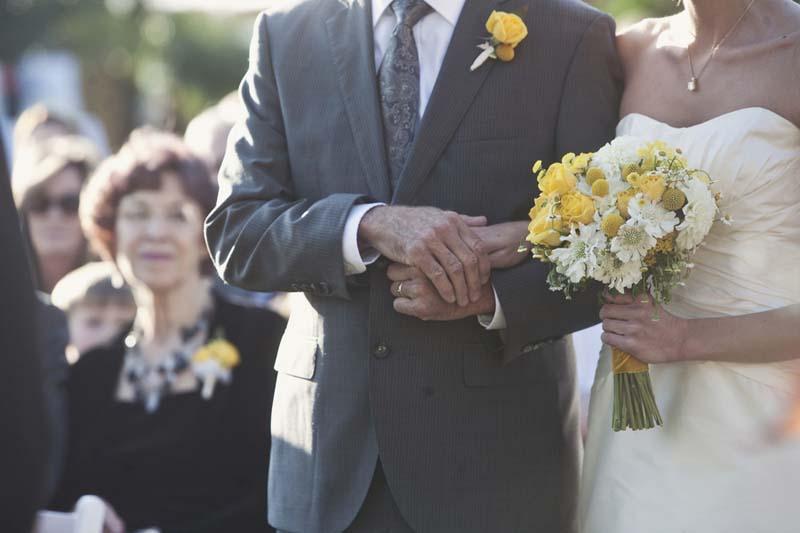 Yellow Bicycle Themed California Wedding via TheELD.com