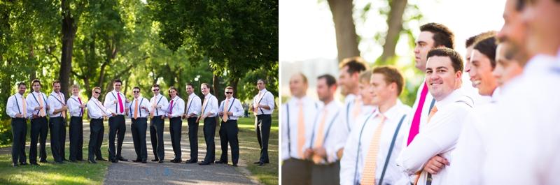 Pink & Orange Modern, Eclectic Wedding via TheELD.com