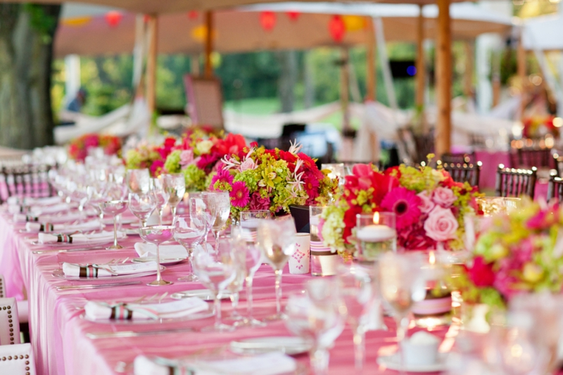 Eclectic Pink and Green New York Wedding via TheELD.com