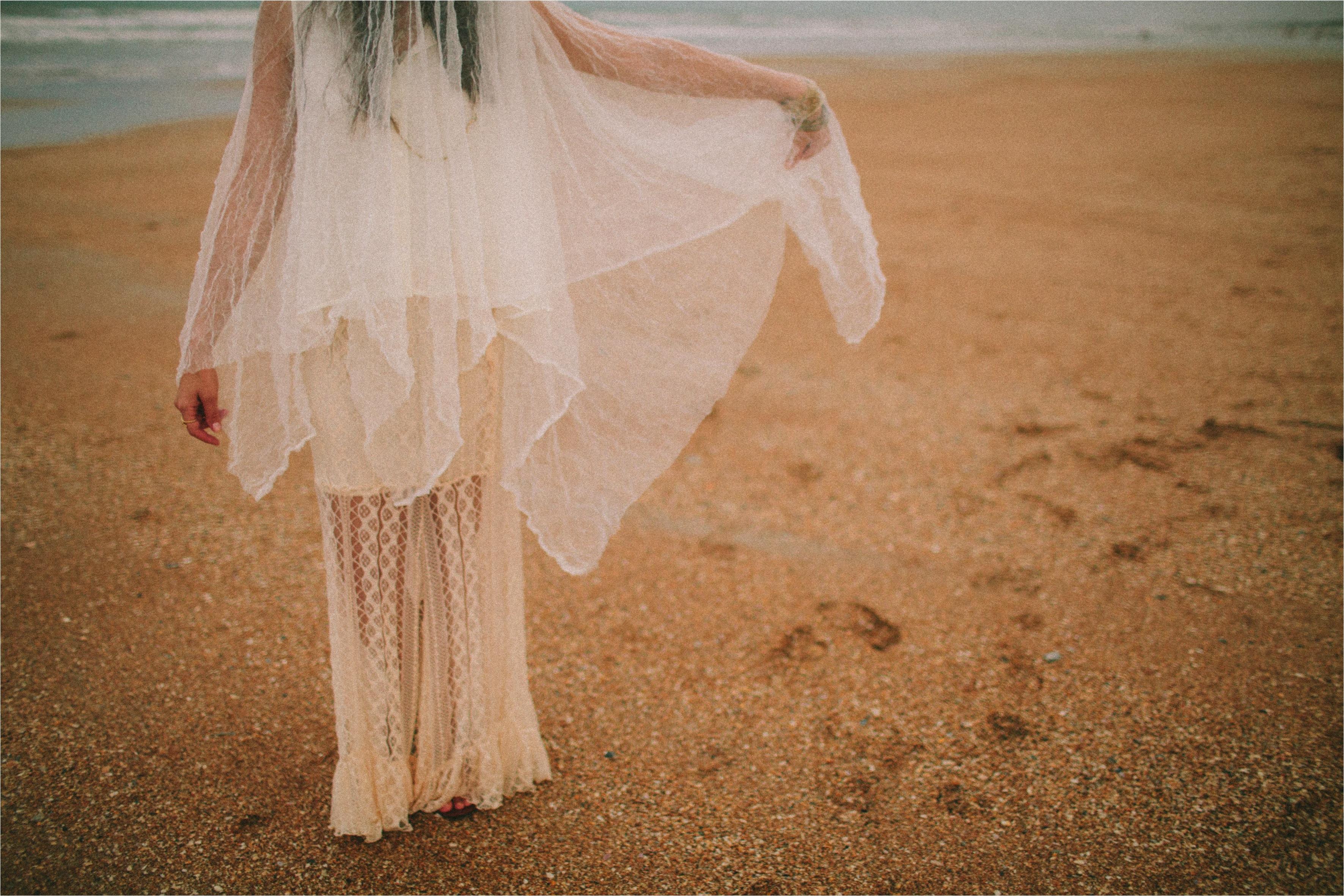 1970s Bohemian Princess Bride Wedding Inspiration via TheELD.com