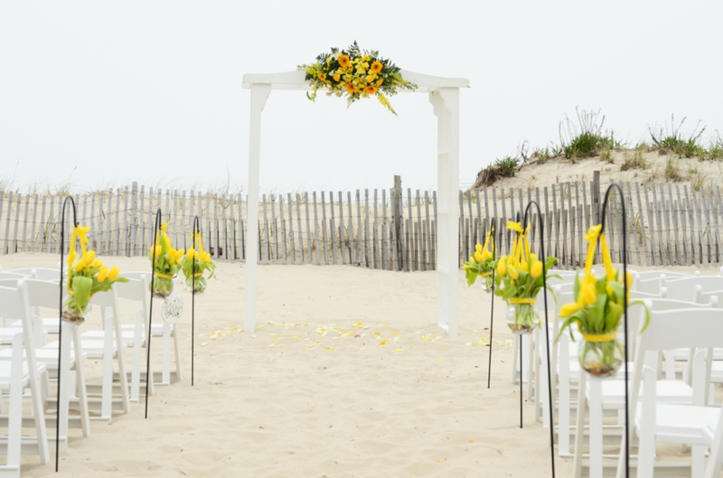 Yellow & Navy New Jersey Beach Wedding via TheELD.com