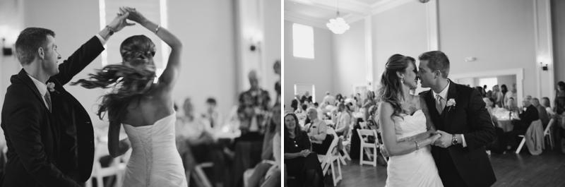 Pink & Gray Vintage Chic Seattle Wedding via TheELD.com