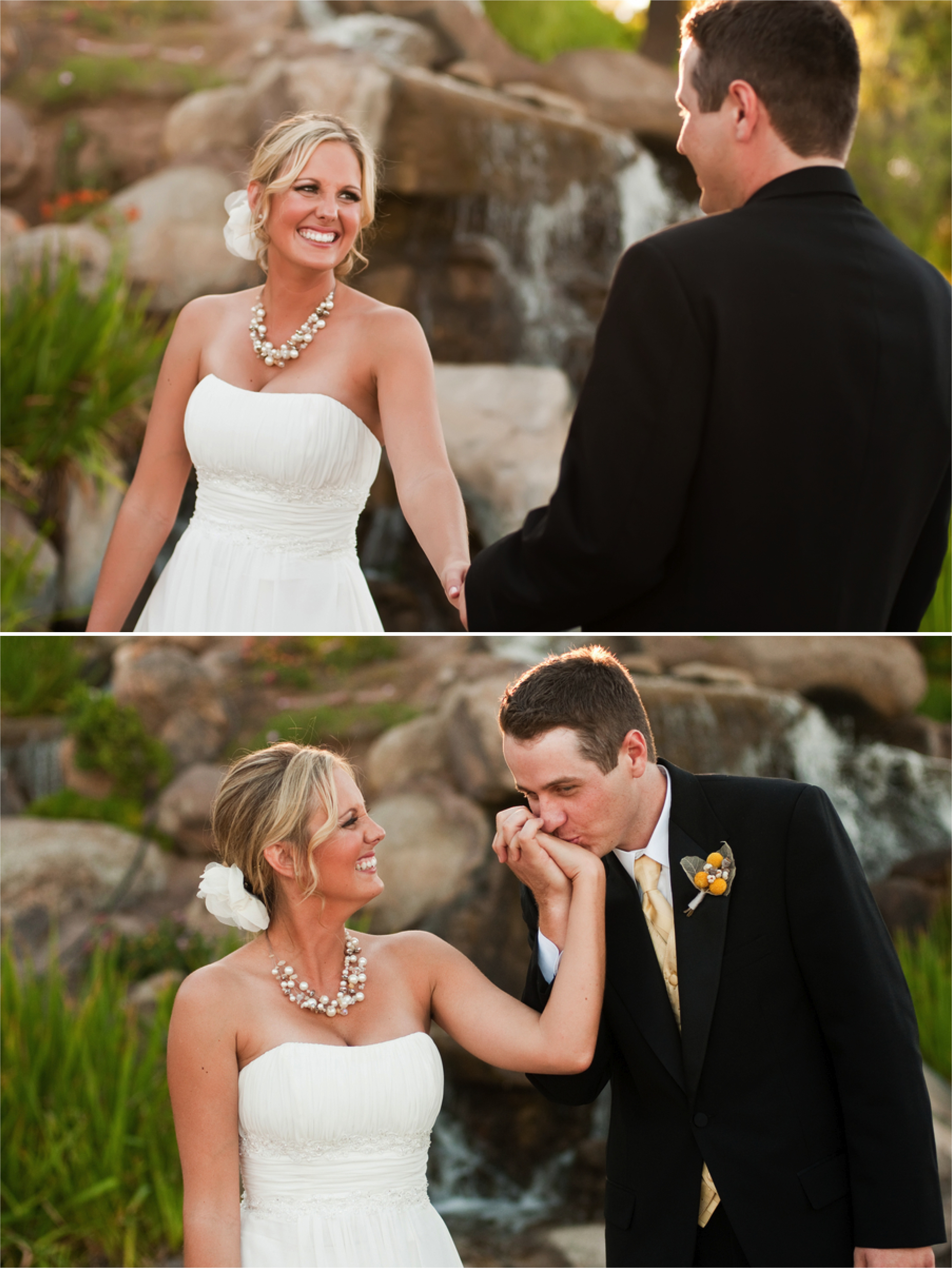 Yellow & White DIY Arizona Wedding via TheELD.com