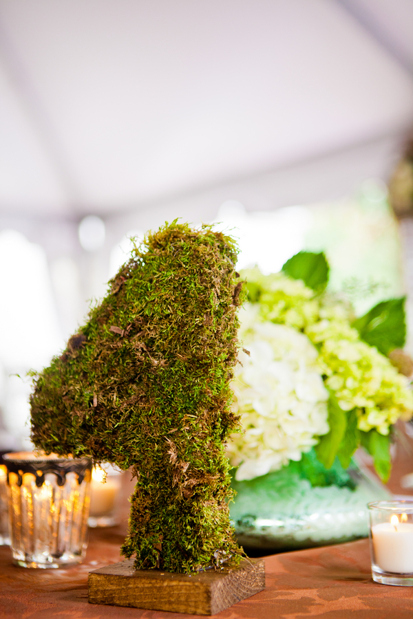 Detail To Love: Moss Table Numbers via TheELD.com
