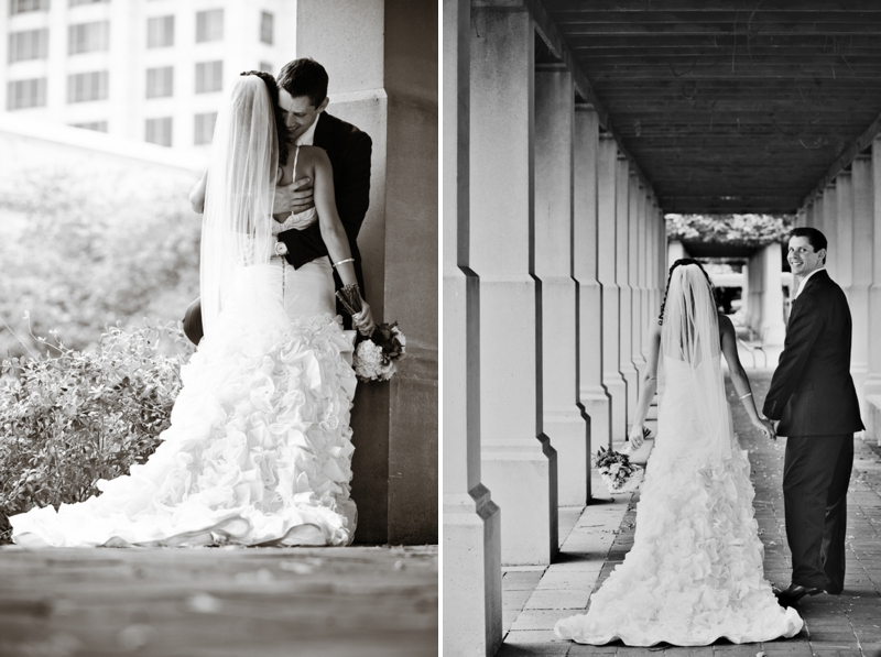 Modern, Elegant Green & Brown Fall Wedding via TheELD.com