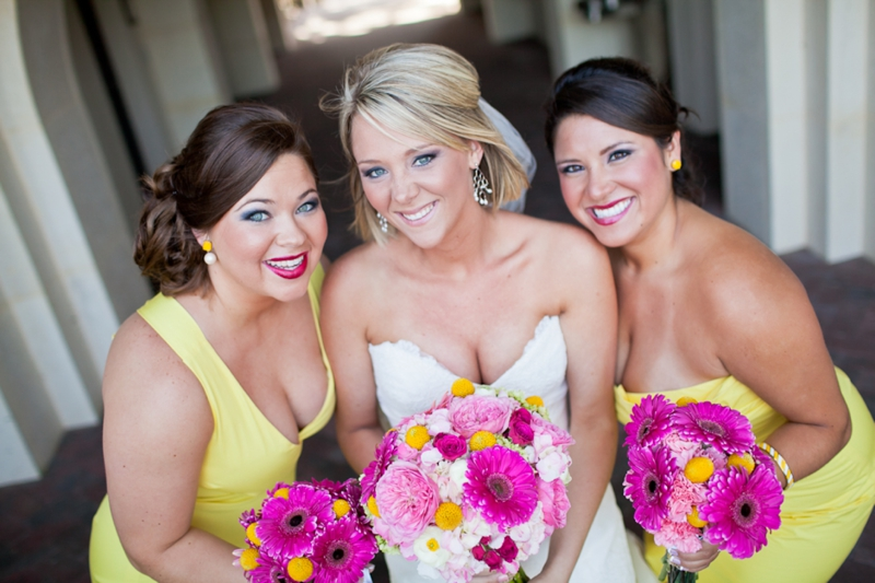 Pink, Aqua & Yellow Wedding By Flaire Weddings via TheELD.com