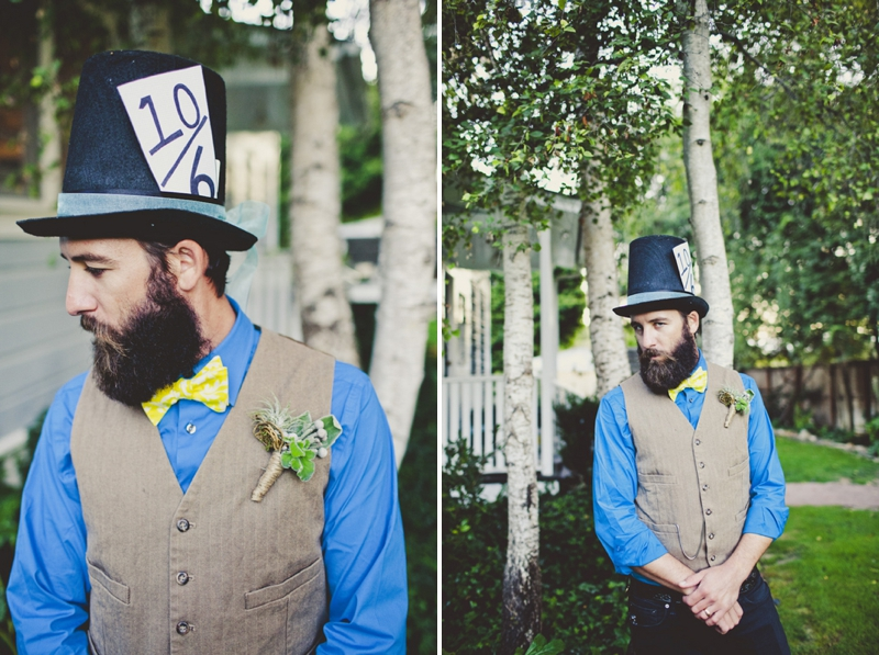 Eclectic Alice In Wonderland Wedding Inspiration via TheELD.com