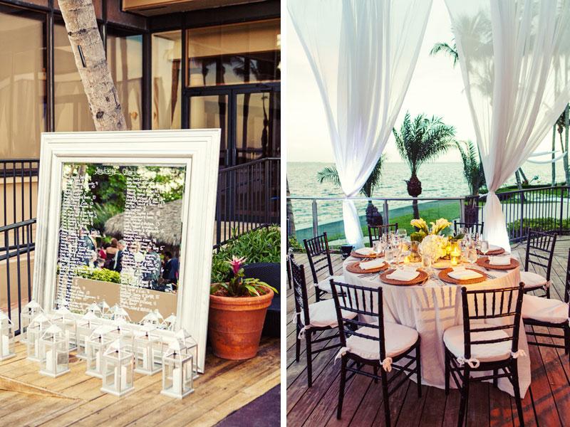 Chic & Modern Green & White Miami Wedding via TheELD.com