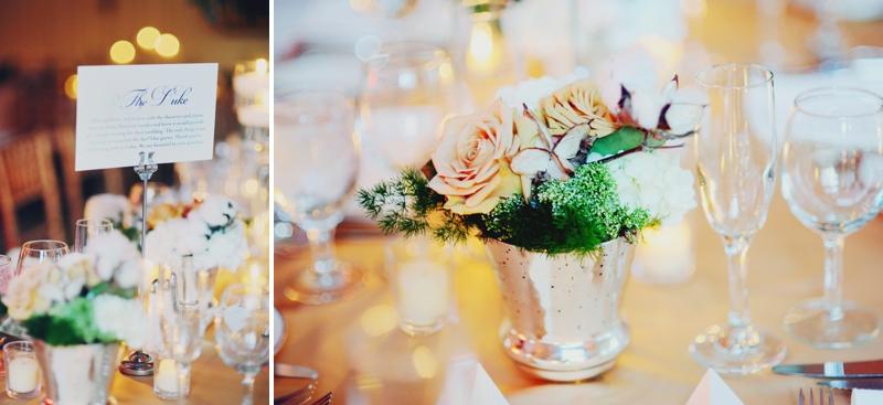 Elegant Blush & Gold North Carolina Wedding via TheELD.com