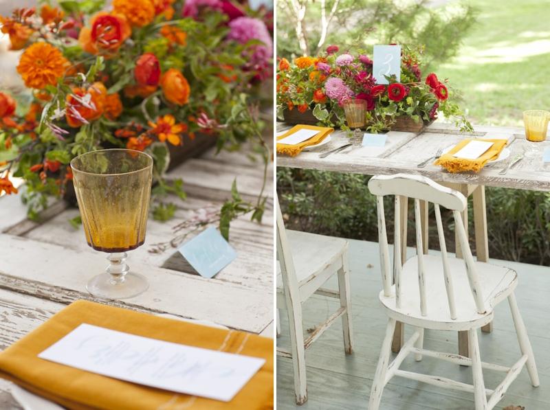Colorful Fall Wedding Inspiration  via TheELD.com