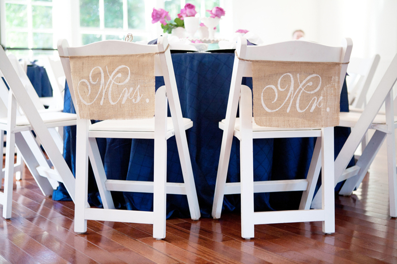 Detail To Love: Burlap Mr & Mrs Signs via TheELD.com