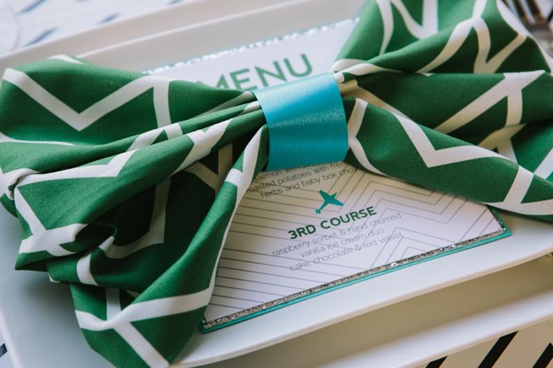 Emerald Green Aviation Inspired Wedding Inspiration via TheELD.com