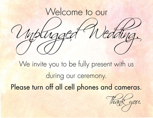 Pro Insight: How To Have An Unplugged Wedding Ceremony via TheELD.com