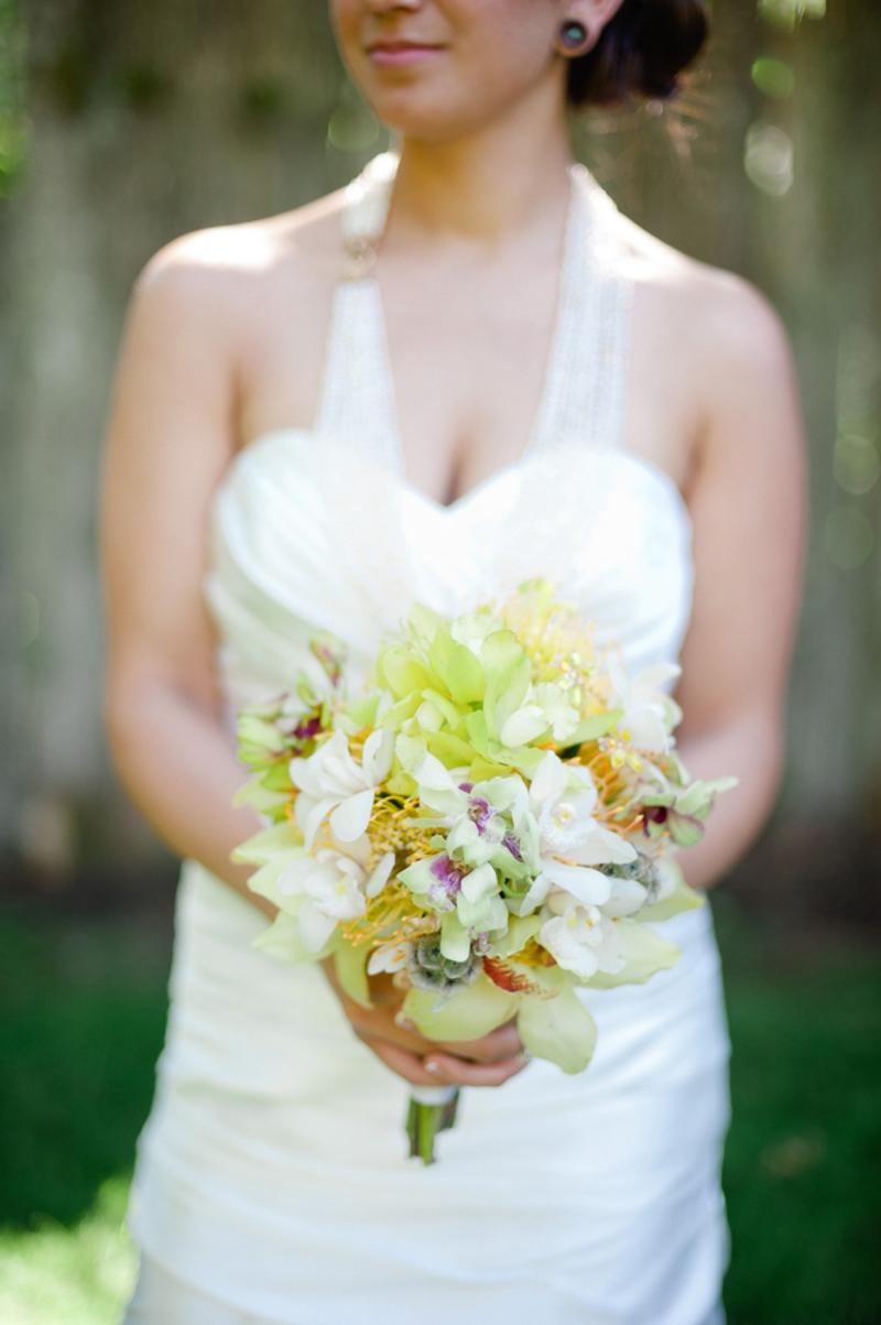 Handmade White, Gray & Yellow Wedding via TheELD.com