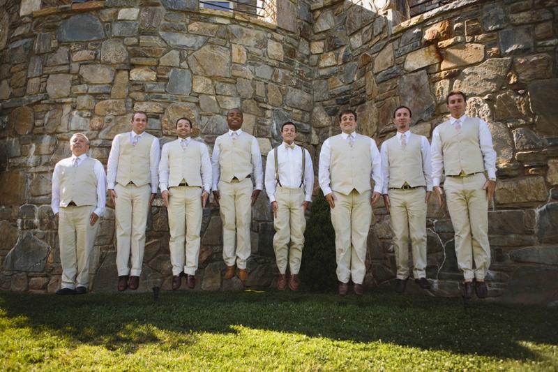 A Rustic Pink and Yellow North Carolina Wedding via TheELD.com