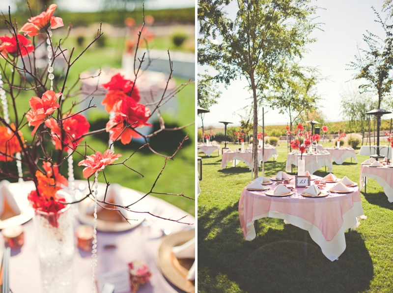 Romantic Coral San Miguel Winery Wedding via TheELD.com