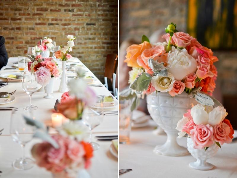 Classic Pink and Peach Chicago Wedding via TheELD.com