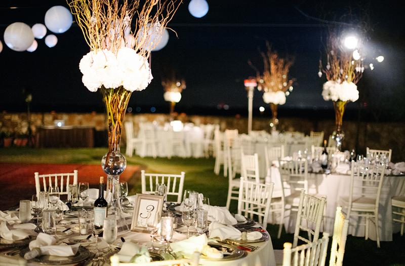 Elegant Green and White Bella Collina Wedding via TheELD.com