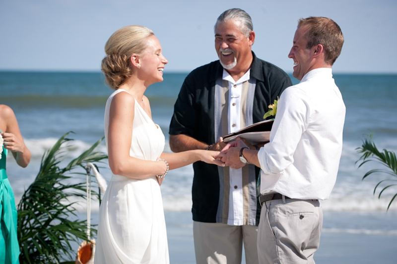 Rustic Chic Blue and Green Beach Wedding via TheELD.com