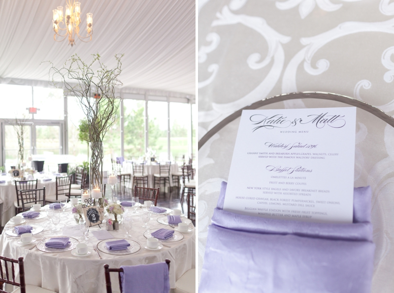 Lavender and White Sunday Brunch Florida Wedding via TheELD.com