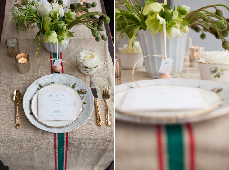 Romantic Peach and Ivory Wedding Inspiration {Everything But The Bride} via TheELD.com