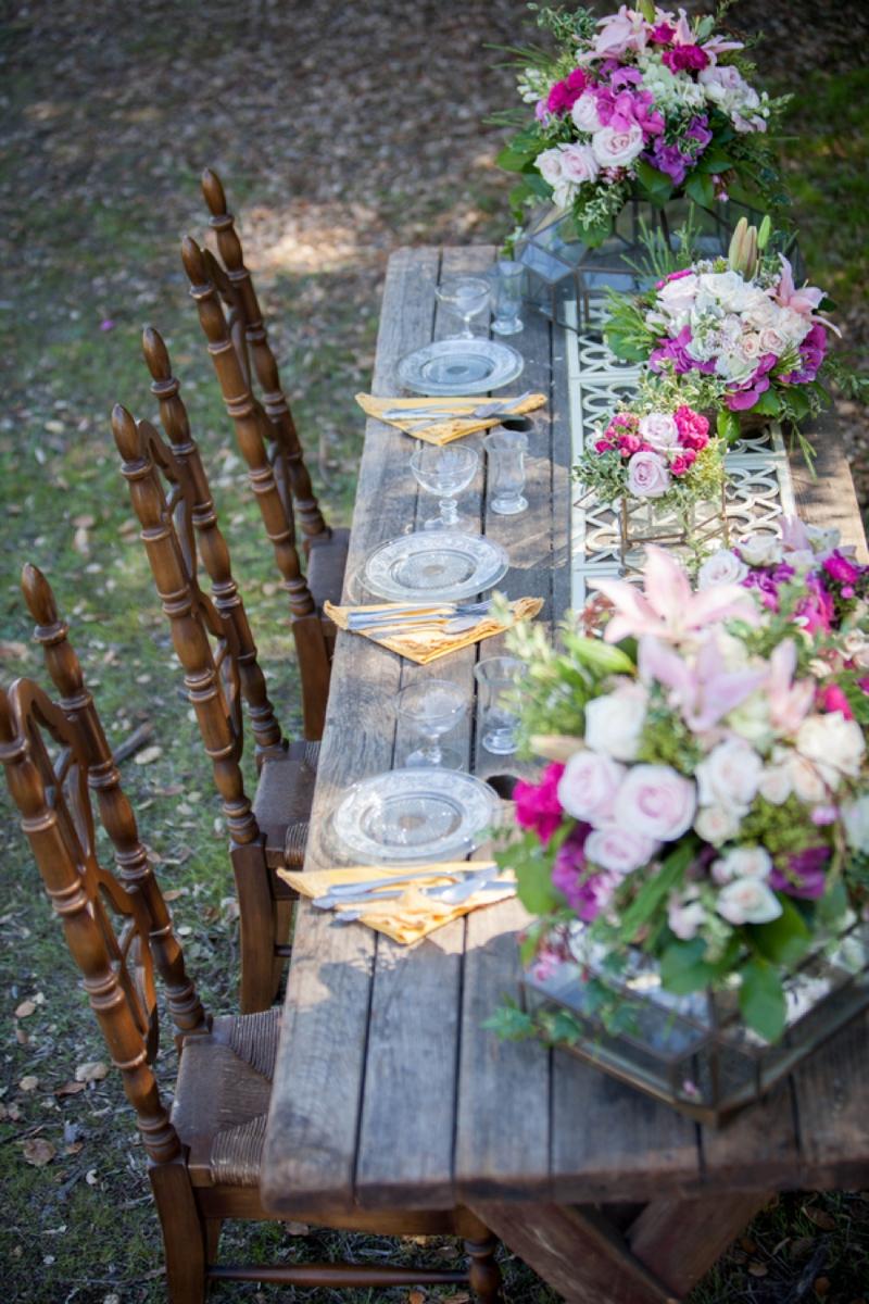 Vintage and Rustic Pink Wedding Inspiration via TheELD.com