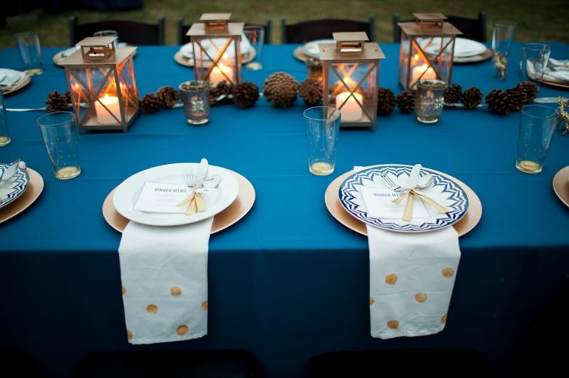 Woodland Navy and Gold Wedding Inspiration via TheELD.com