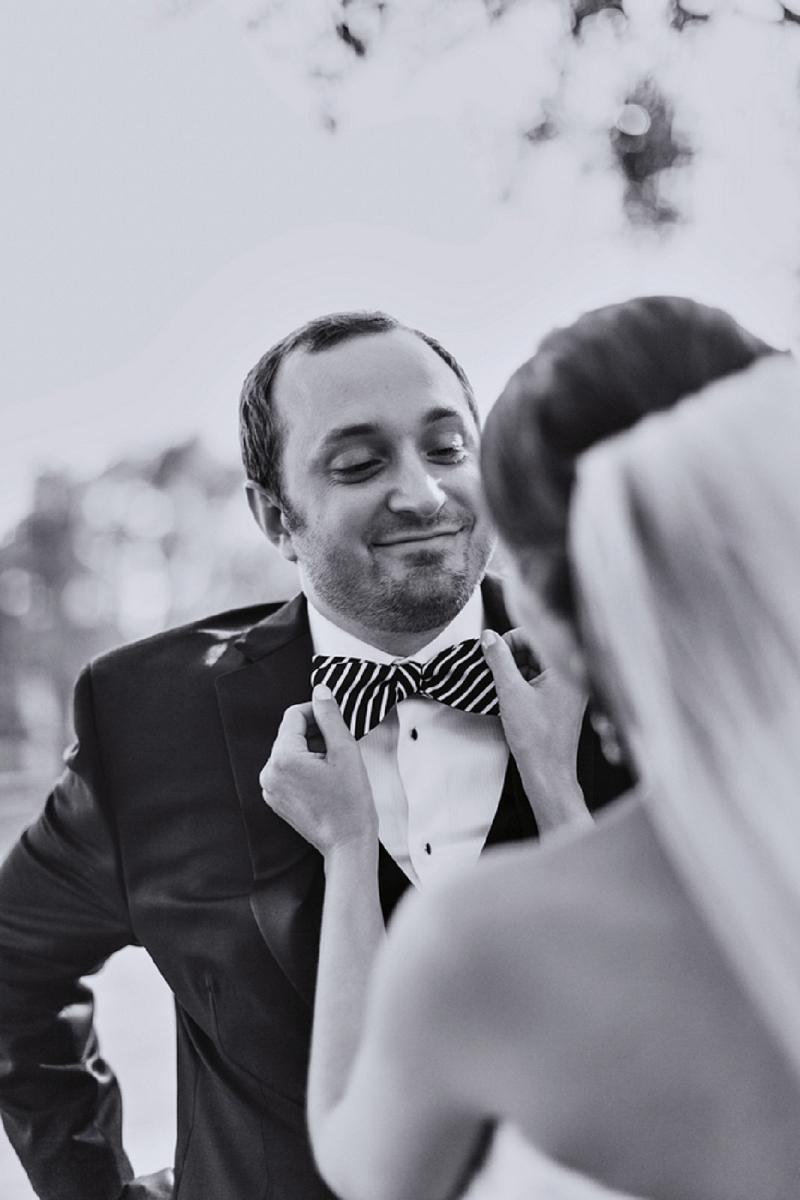 Modern Black and White Florida Wedding via TheELD.com
