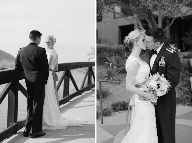 Yellow and White Air Force Wedding via TheELD.com