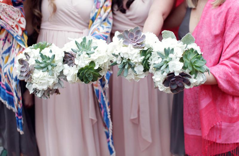 Eclectic Pink and Gray South Carolina Wedding via TheELD.com
