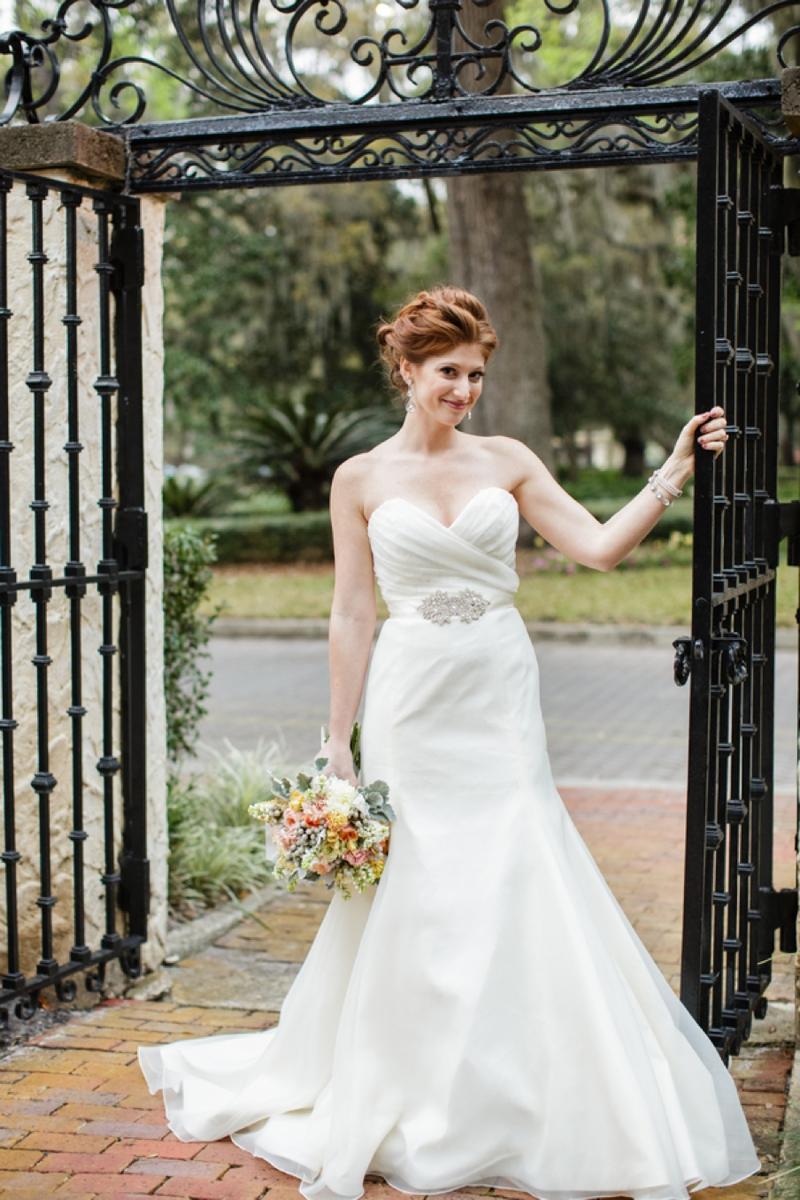 Fresh Southern Peach and Gold Wedding Inspiration via TheELD.com