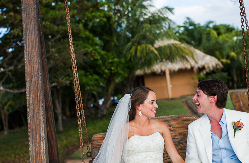 Classic Blue and Green Costa Rica Destination Wedding via TheELD.com