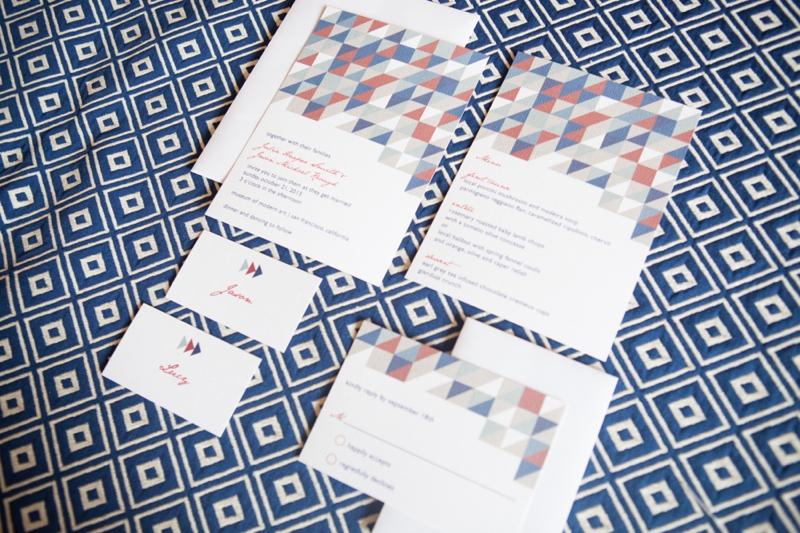 Red, White, and Blue Wedding Ideas {Modern} via TheELD.com