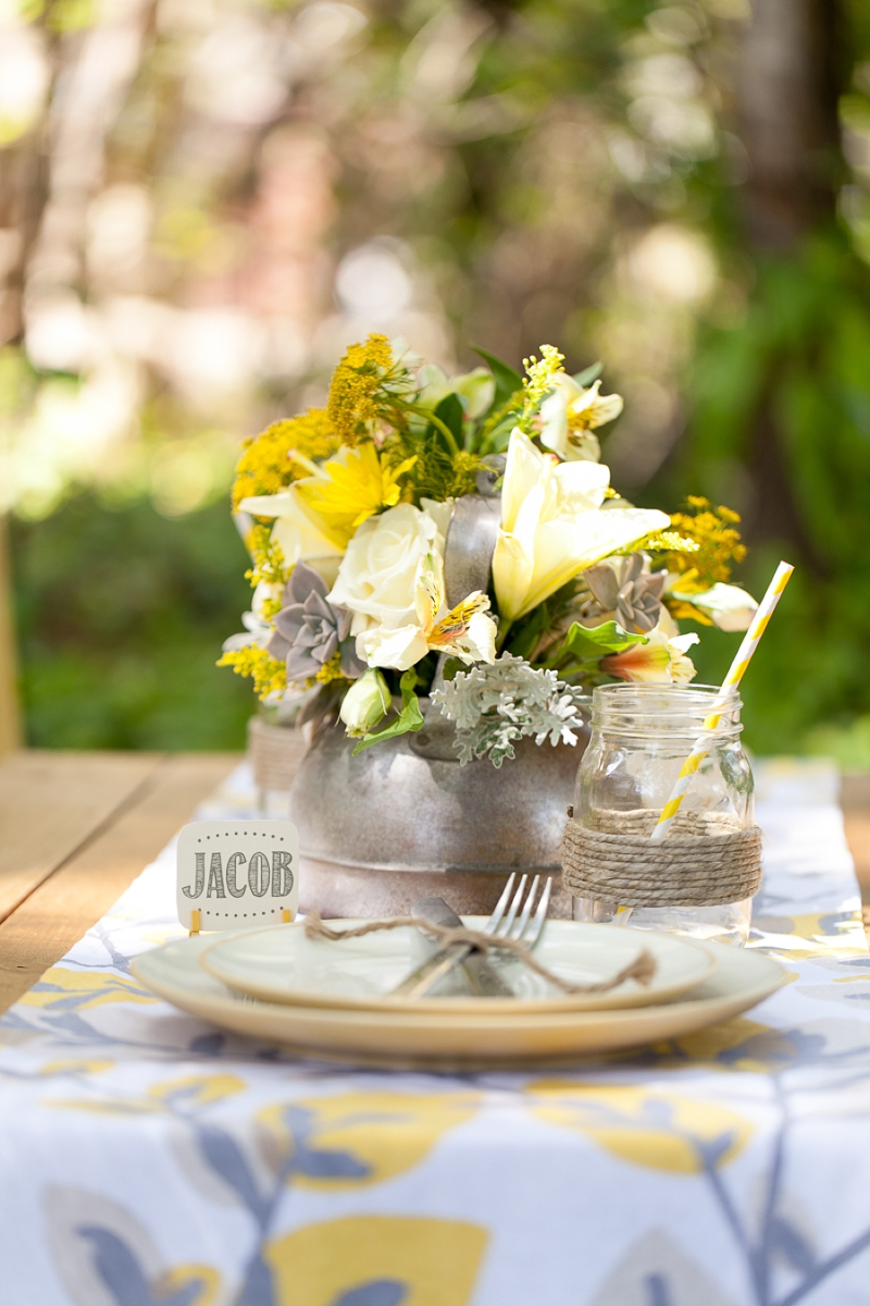 Yellow Wedding Ideas {Rustic} via TheELD.com