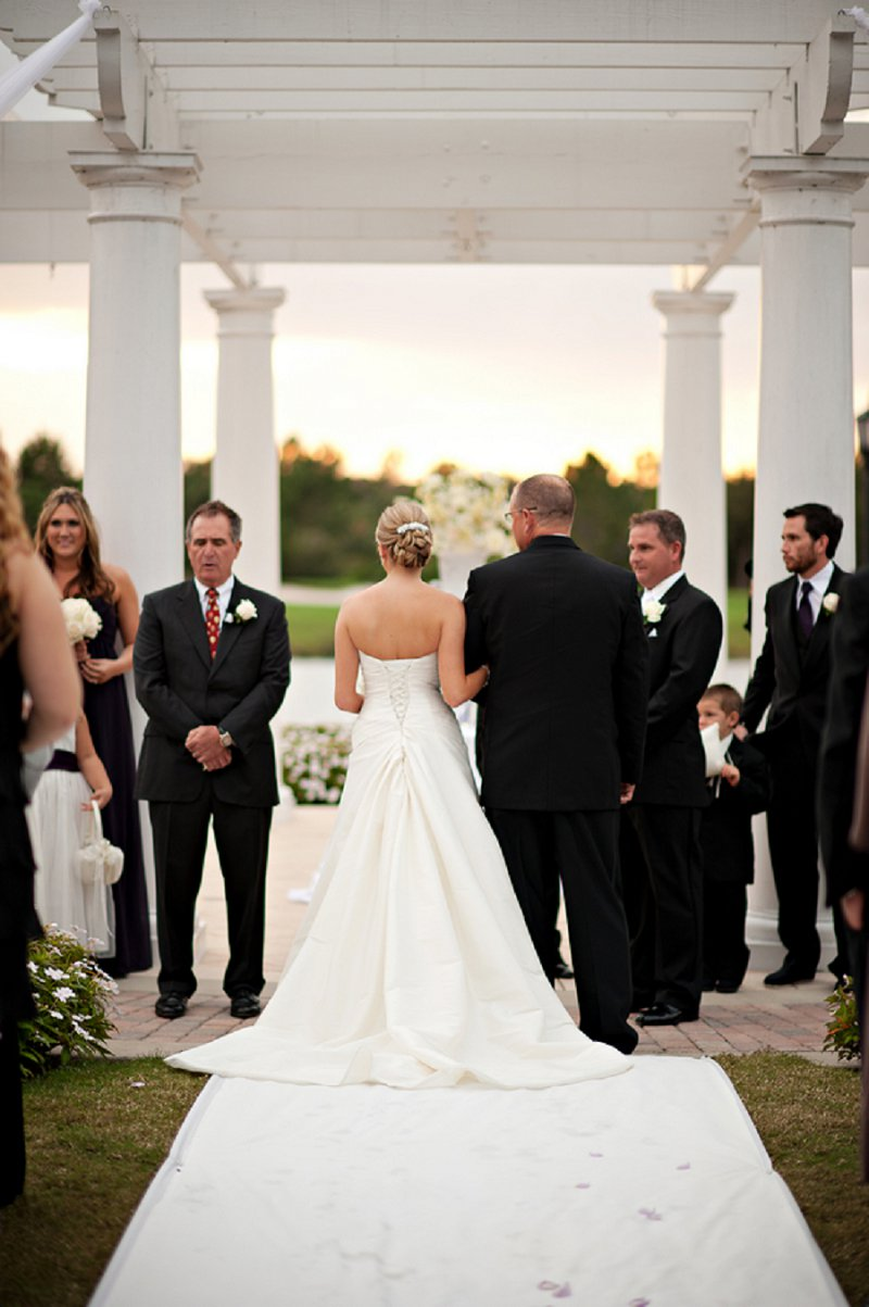 Elegant Purple & White Florida Wedding via TheELD.com