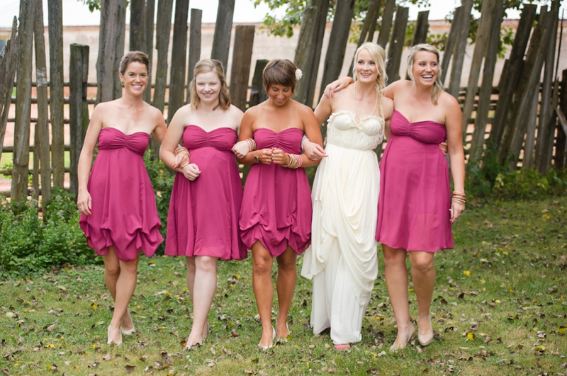 A Prince Edward Island Rustic Pink and White Wedding via TheELD.com