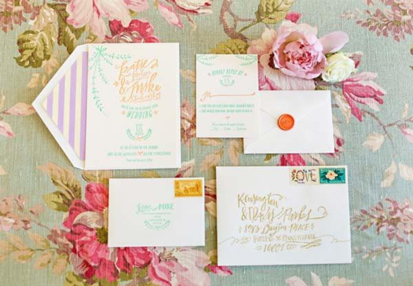 Vintage Pastel Wedding Inspiration via TheELD.com
