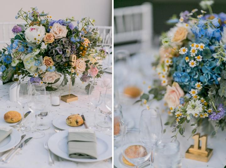 Modern Romantic Lavender and Blue Wedding via TheELD.com