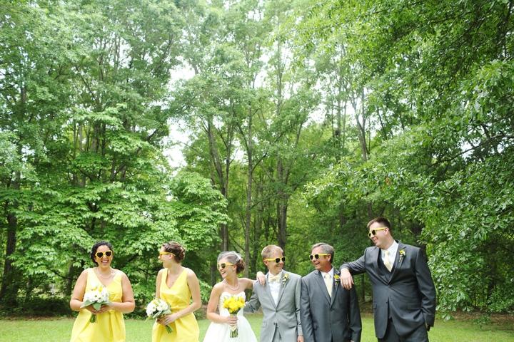 Fun and Bright Yellow and Gray Wedding via TheELD.com