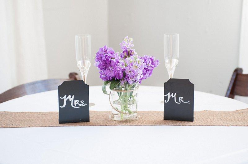 Purple and Gray Boho Chic Beach Wedding via TheELD.com