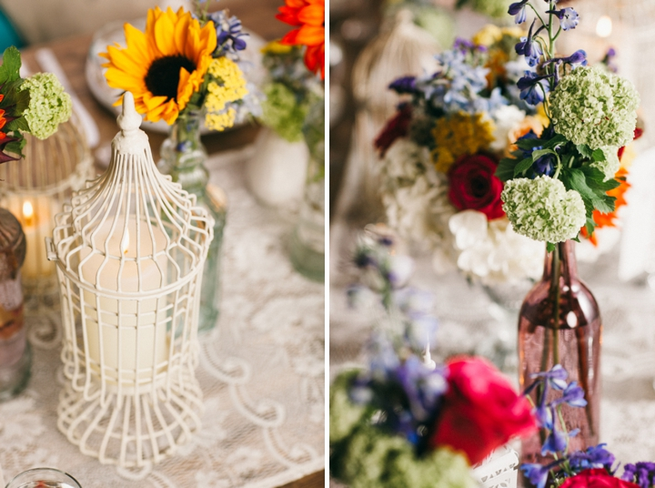 Colorful Vintage Boho Wedding Inspiration via TheELD.com
