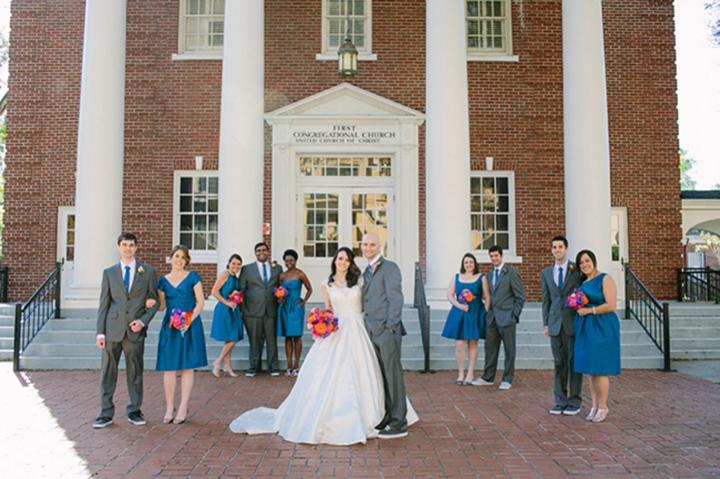 A Colorful Vintage Eclectic Winter Park Wedding via TheELD.com