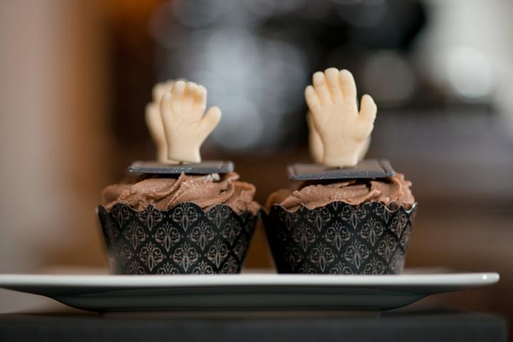 Elegant Halloween Inspired Engagement Party Ideas via TheELD.com