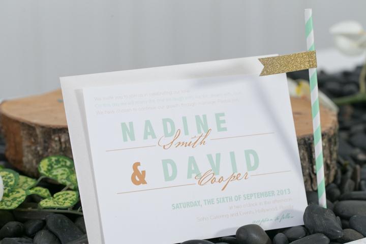 Modern Peach and Mint Wedding Inspiration via TheELD.com